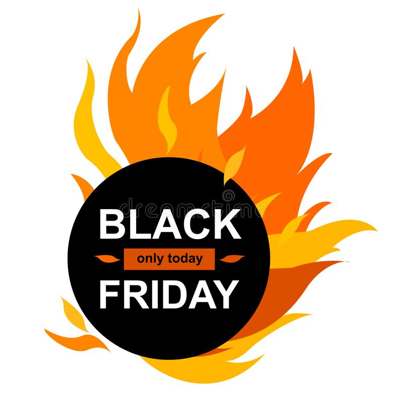 Cirkelbanner met Black Friday stock illustratie