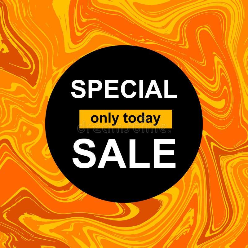 Cirkelbanner met Speciale verkoop royalty-vrije illustratie