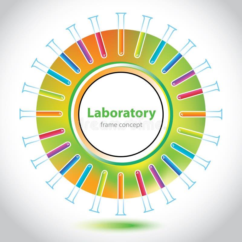 Cirkelbeståndsdel - laboratoriumrör - abstrakt bakgrund vektor illustrationer
