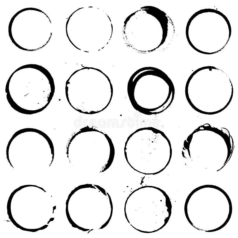 Cirkelbeståndsdeluppsättning 01 vektor illustrationer