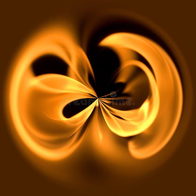 cirkelbrand vektor illustrationer