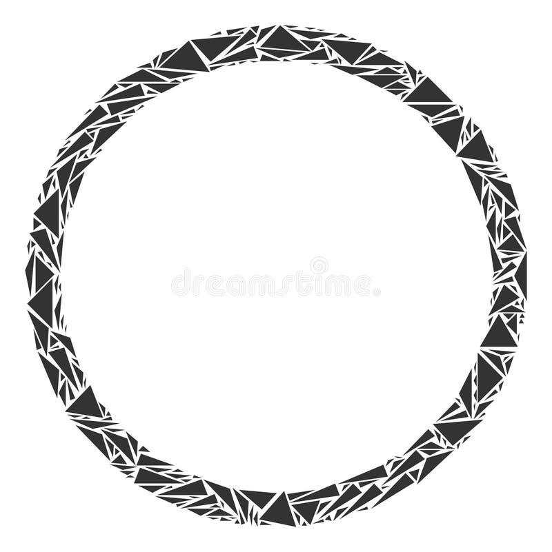 Cirkelbubblamosaik av trianglar vektor illustrationer