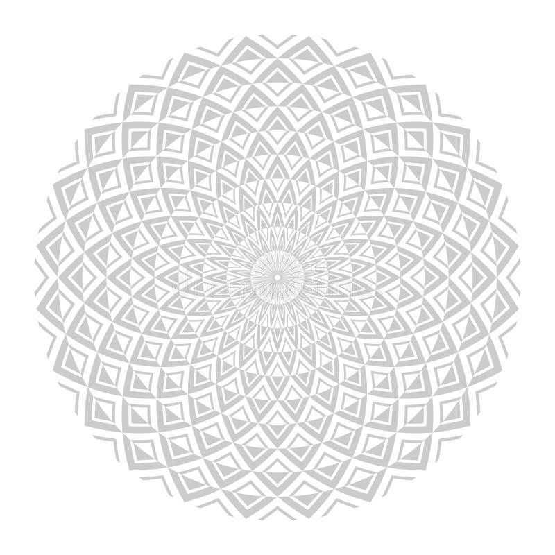 Cirkeldesign Abstrakt geometrisk rotationsmodell royaltyfri illustrationer