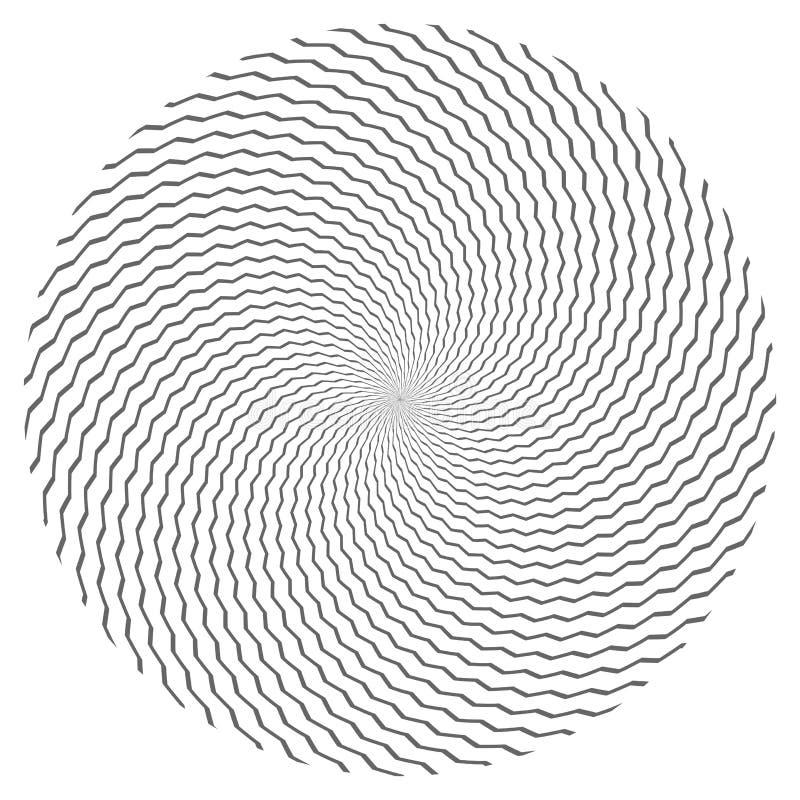 Cirkeldesignbeståndsdel Sicksacklinjer textur stock illustrationer