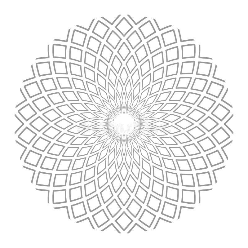 Cirkeldesignbest?ndsdel abstrakt geometrisk modell stock illustrationer