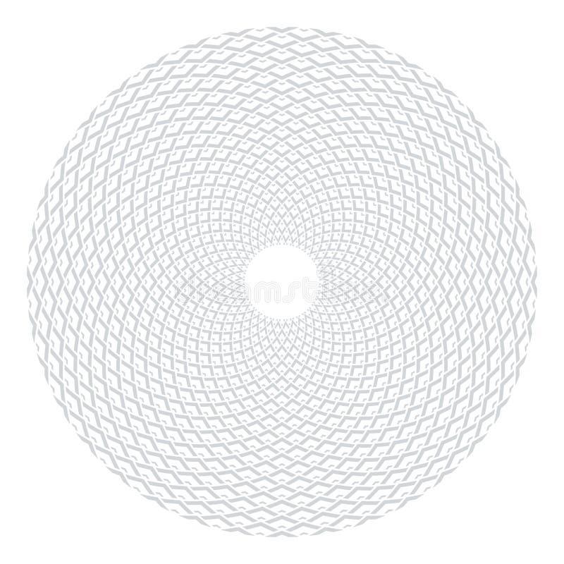 Cirkeldesignbest?ndsdel Abstrakt geometrisk rotationsmodell vektor illustrationer
