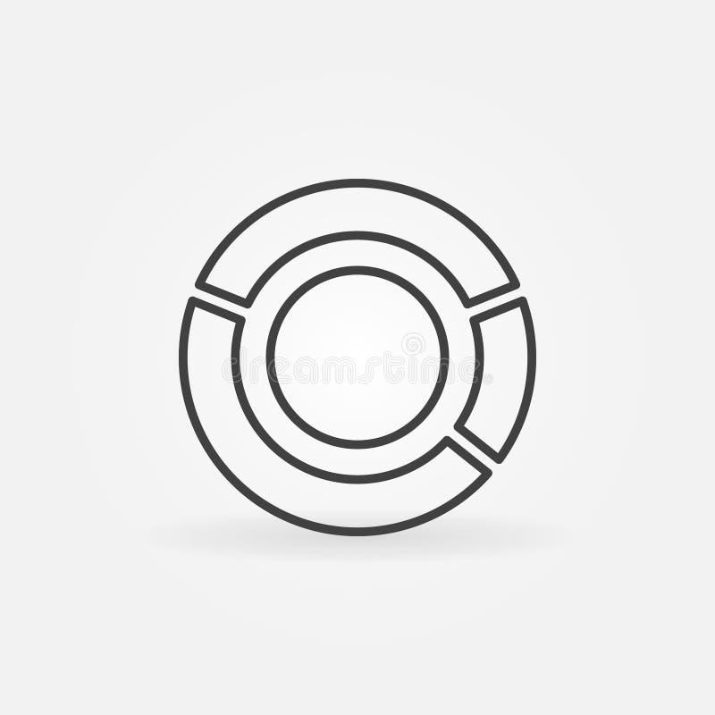 Cirkeldiagrampictogram royalty-vrije illustratie