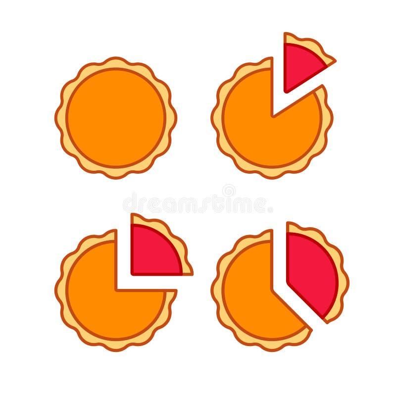 Cirkeldiagramreeks stock illustratie