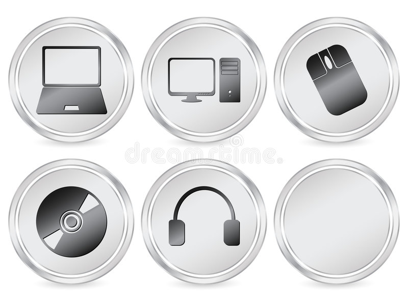 cirkelelektroniksymbol royaltyfri illustrationer