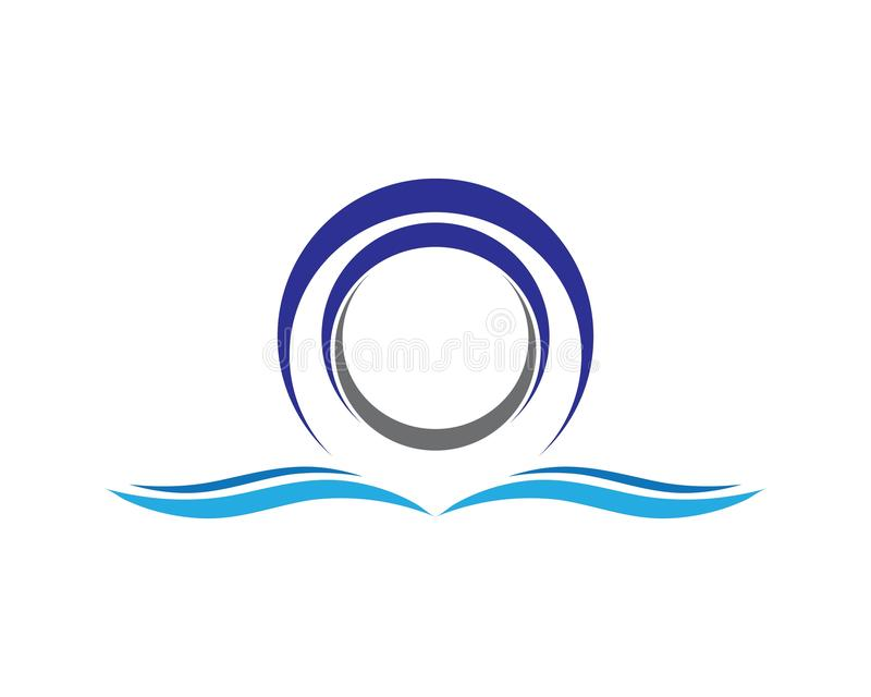 Cirkelembleem stock illustratie