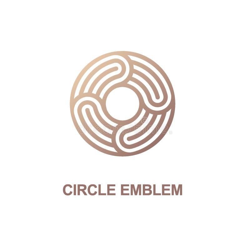 Cirkelemblem Vektorlogomall stock illustrationer