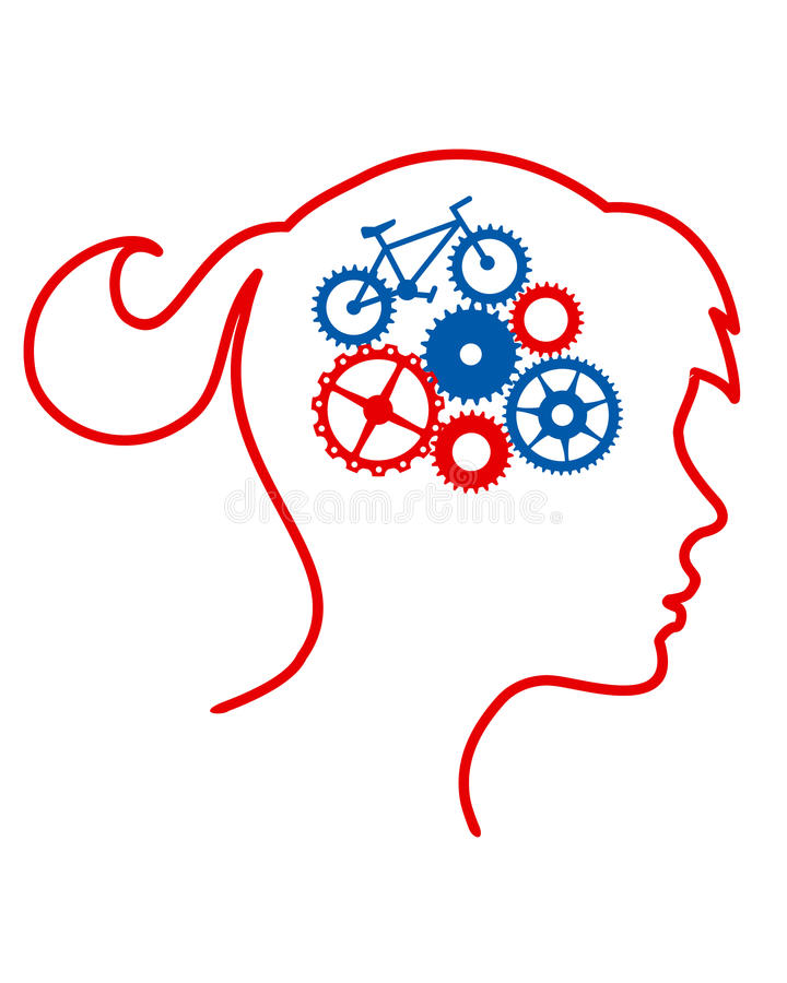 Cirkelende hersenen vector illustratie