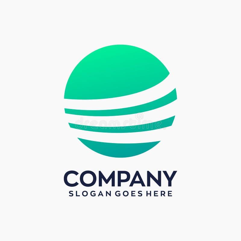 Cirkelfinansmarknadsföring Logo Template stock illustrationer
