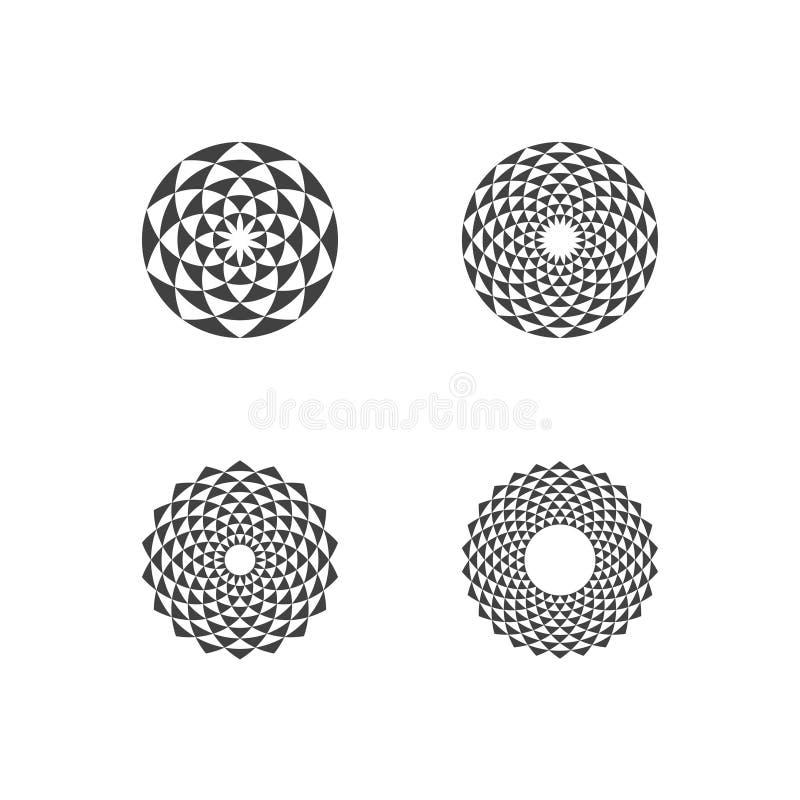 Cirkelfractal Ontwerpelementen vector illustratie