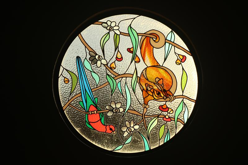 Cirkelgebrandschilderd glasvenster royalty-vrije stock foto's