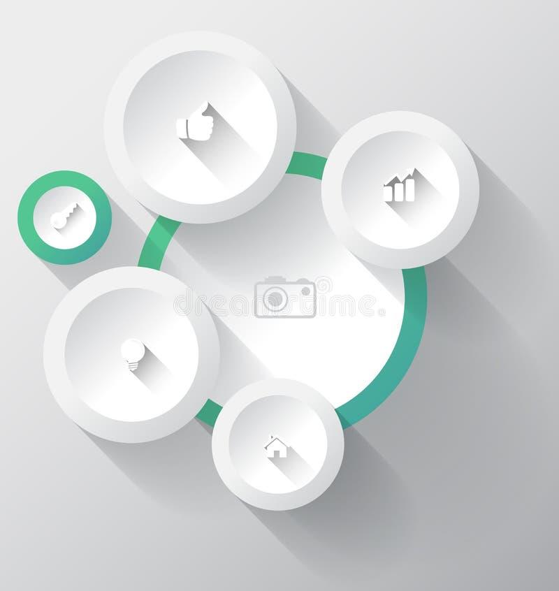 Cirkelgroep met pictogrammen. vector illustratie