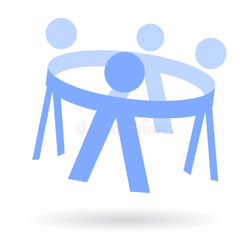 cirkelhanden lurar logo vektor illustrationer