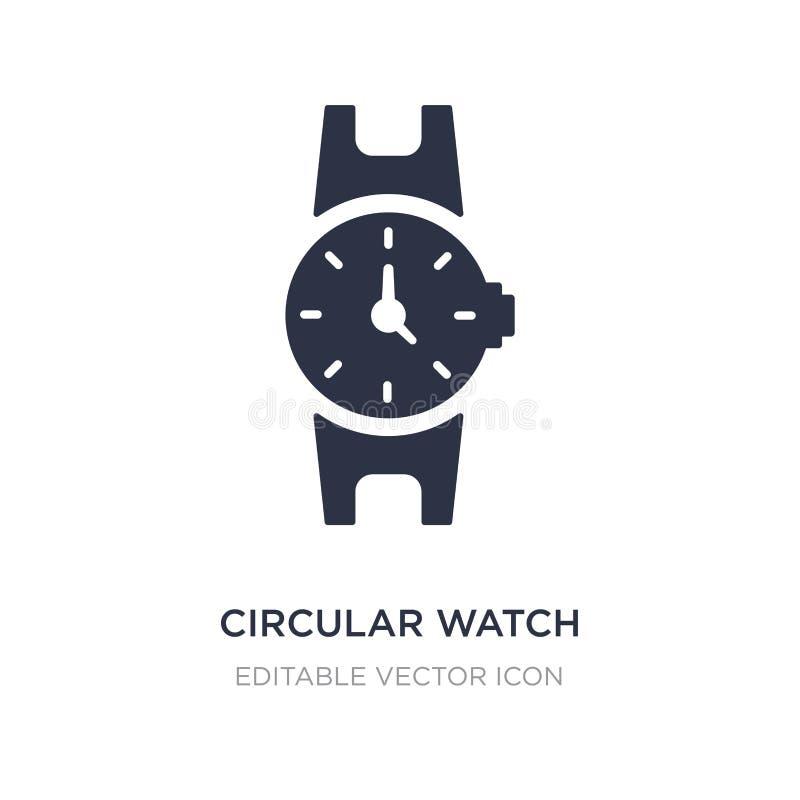 cirkelhorlogepictogram op witte achtergrond Eenvoudige elementenillustratie van Algemeen concept stock illustratie