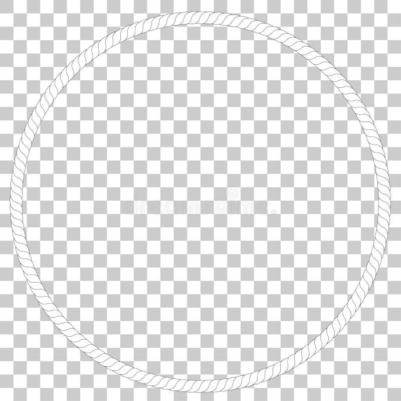 Cirkelkader van kabel, bij Transparante Effect Achtergrond vector illustratie