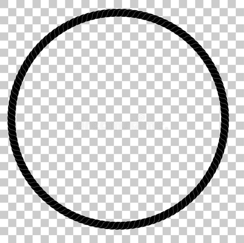 Cirkelkader van Zwarte kabel voor Uw Elementenontwerp stock illustratie
