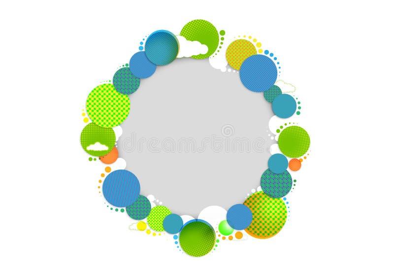 Cirkelkleuren van zonneschijn stock afbeelding