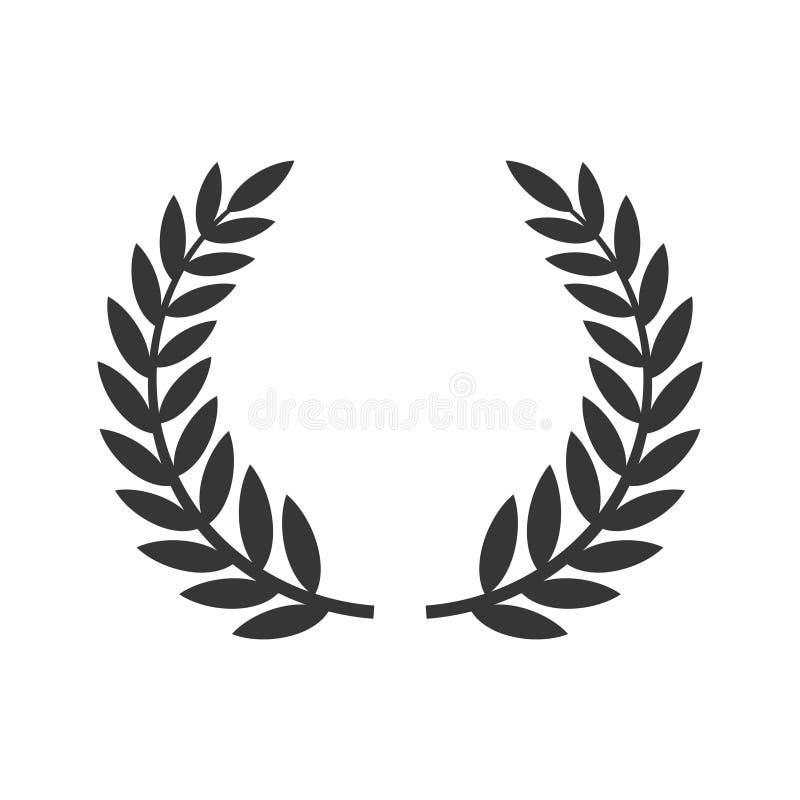 Cirkellaurel foliate icon De toekenning van het filmfestival Vector stock illustratie