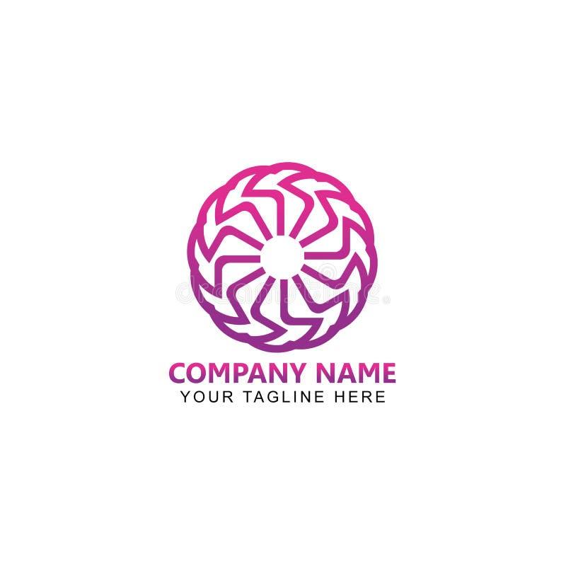 Cirkellijn Art Logo Design Vector royalty-vrije illustratie