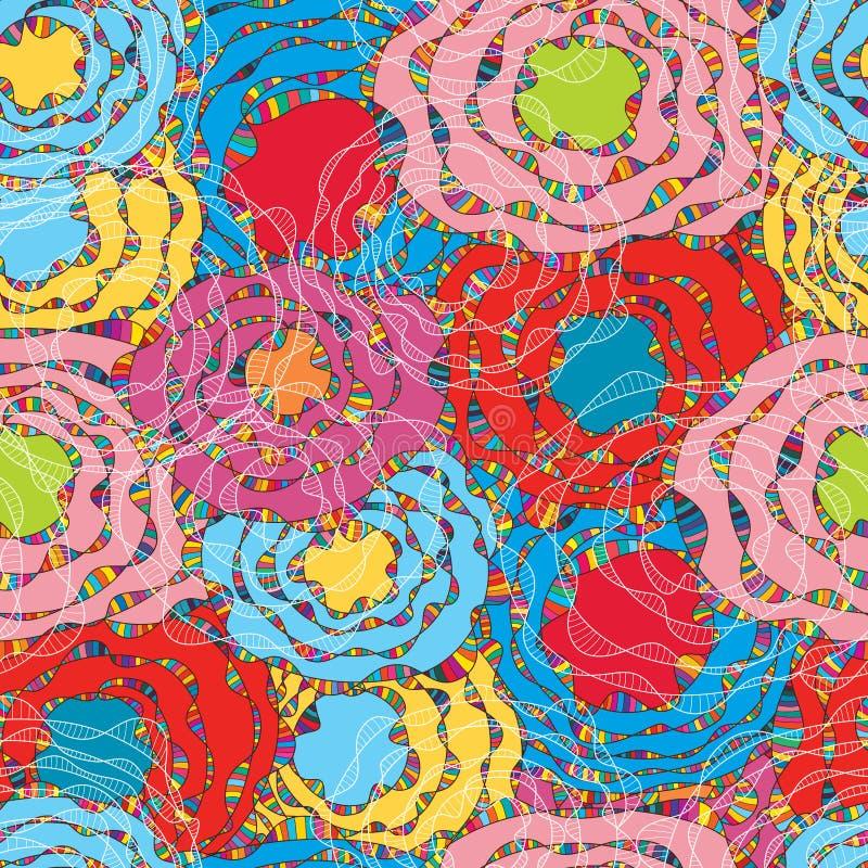 Cirkellinje våglinje sömlös modell för fluga royaltyfri illustrationer