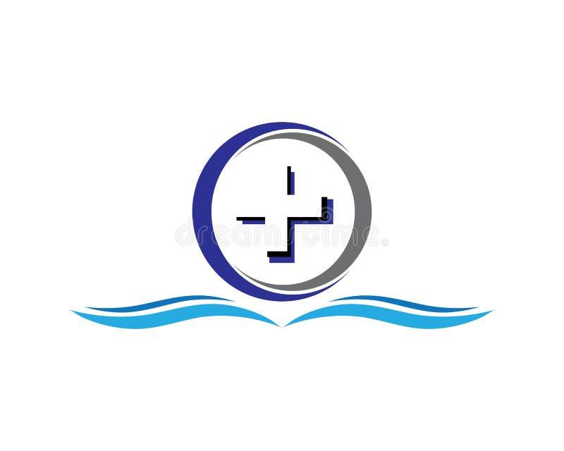 Cirkellogo stock illustrationer