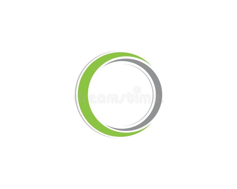 cirkellogo och symbolvektorer royaltyfri illustrationer
