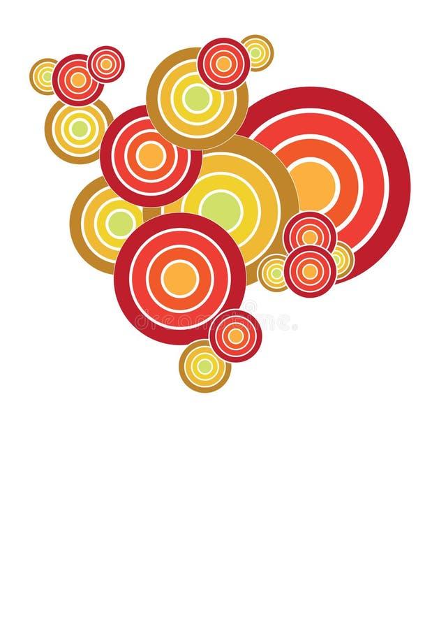 cirkelmodell stock illustrationer