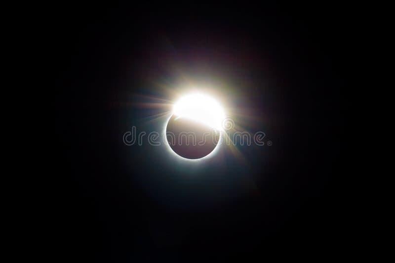 Cirkeln av 2017 sol- förmörkelse USA Förenta staterna arkivfoton