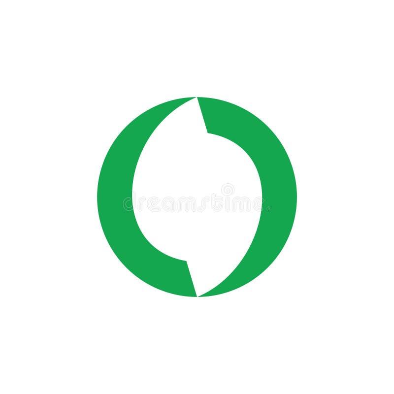 Cirkeln buktar den abstrakta enkla logovektorn royaltyfri illustrationer