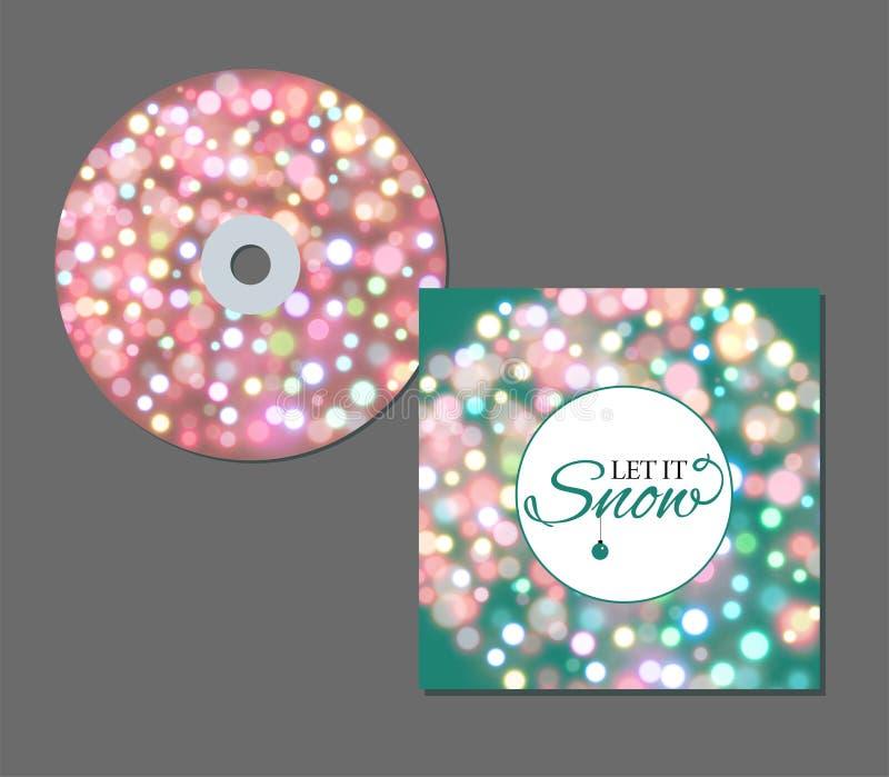 Cirkeln för neonljus med sken mousserar affischen för soulmusikkonsert eller CD räkningsdesignmall Vektor som blänker glöd stock illustrationer