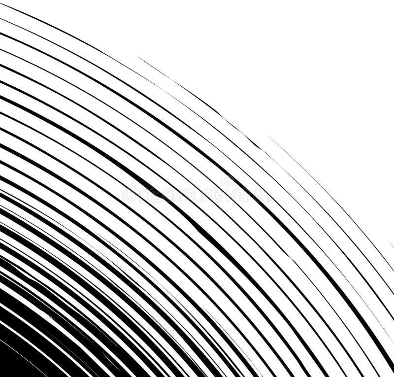 Cirkelpatroon met spiraal, wervelingselement Abstracte Geometrisch vector illustratie