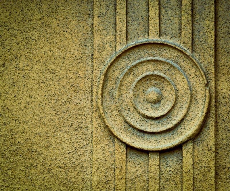 Cirkelpatroon op pleister stock foto's
