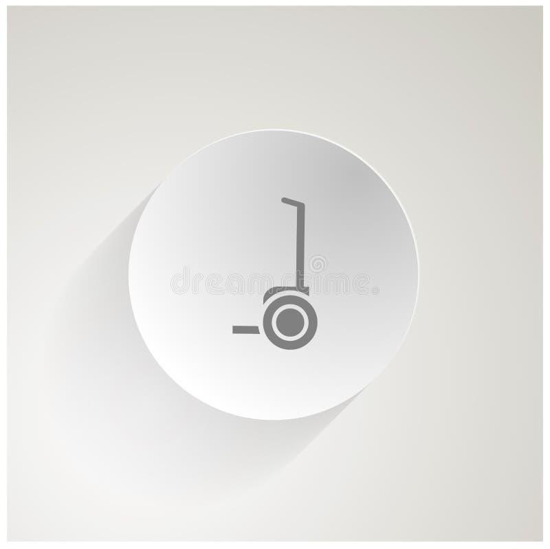 Cirkelpictogram voor segway stock afbeelding