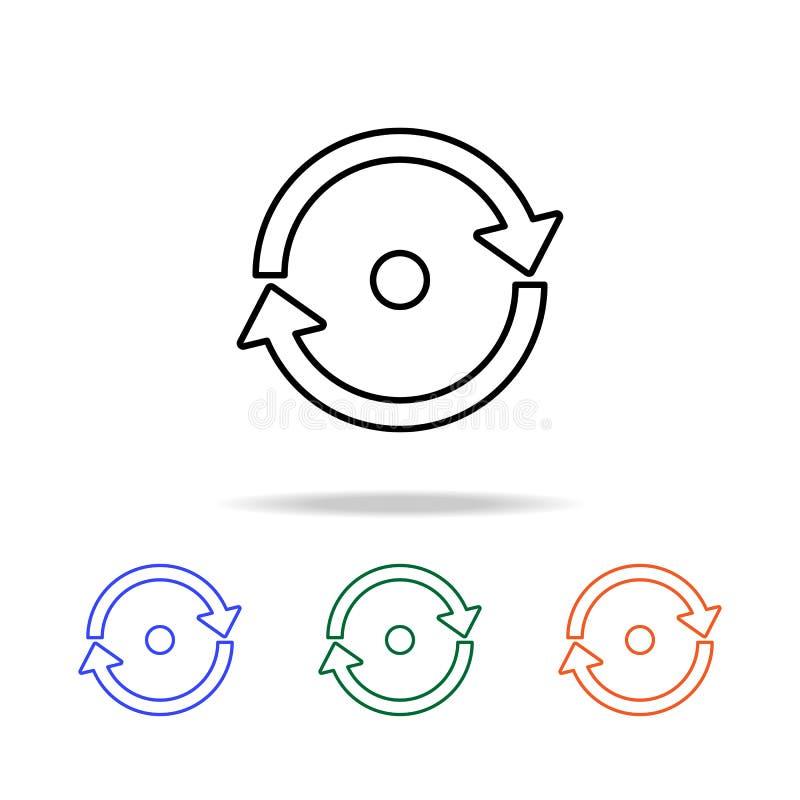 cirkelpijlen met een puntpictogram Elementen van eenvoudig Webpictogram in multikleur Grafisch het ontwerppictogram van de premie royalty-vrije illustratie