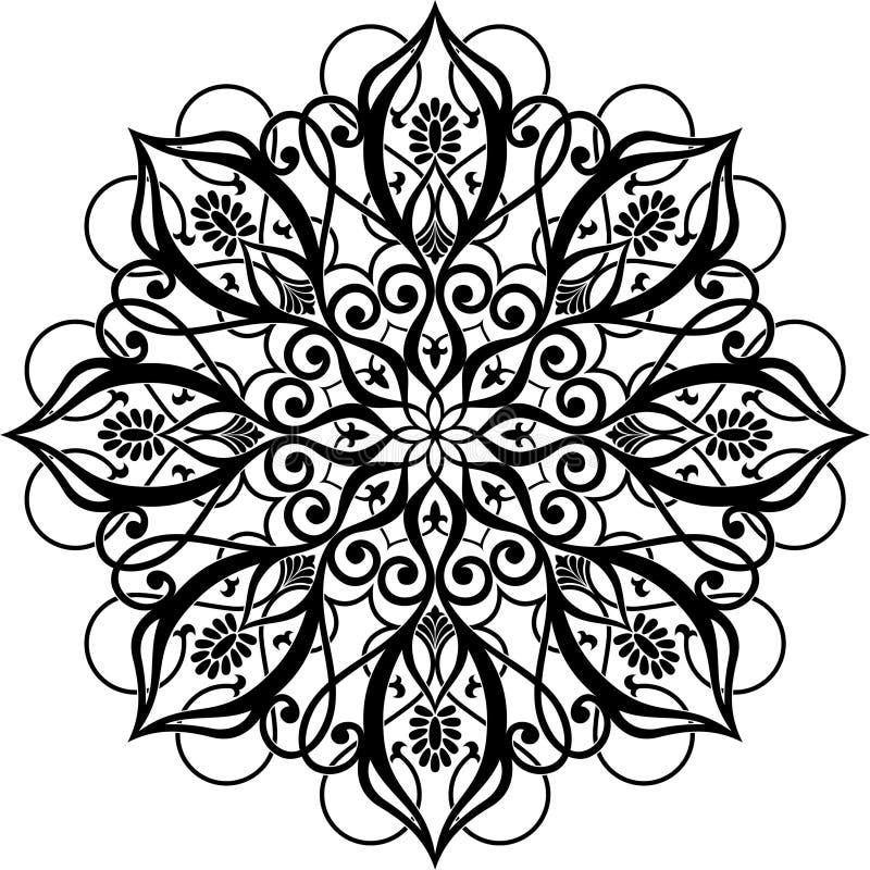 cirkelprydnad vektor illustrationer