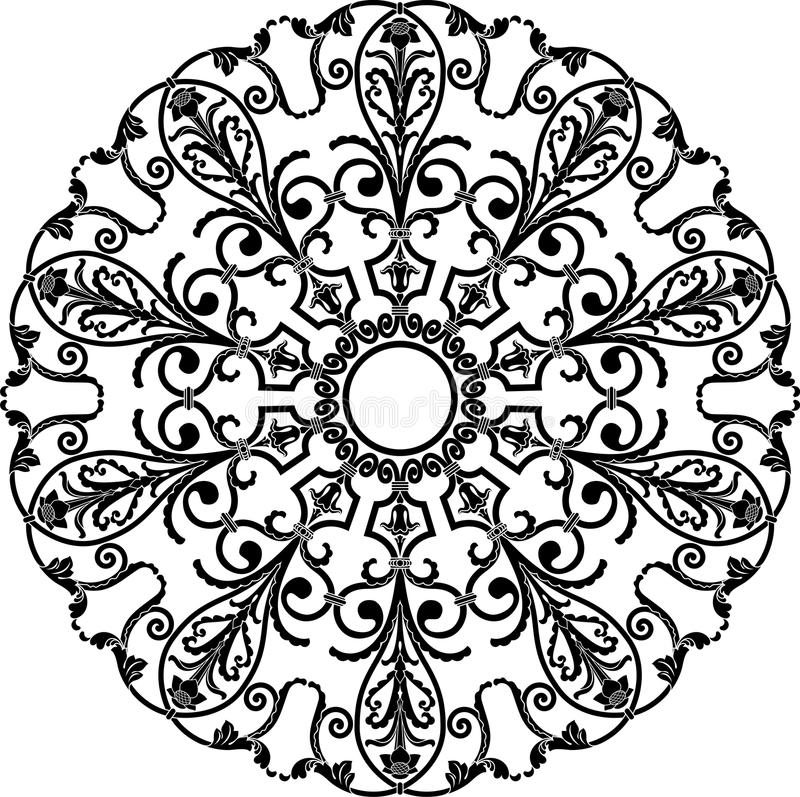 Cirkelprydnad stock illustrationer