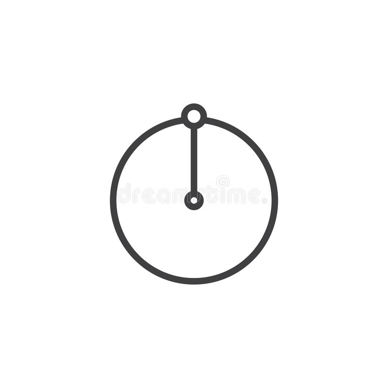 Cirkelradielinje symbol vektor illustrationer