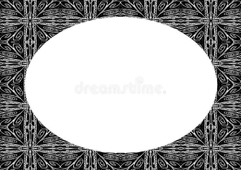 Cirkelrambakgrund med dekorerade gr?nser vektor illustrationer