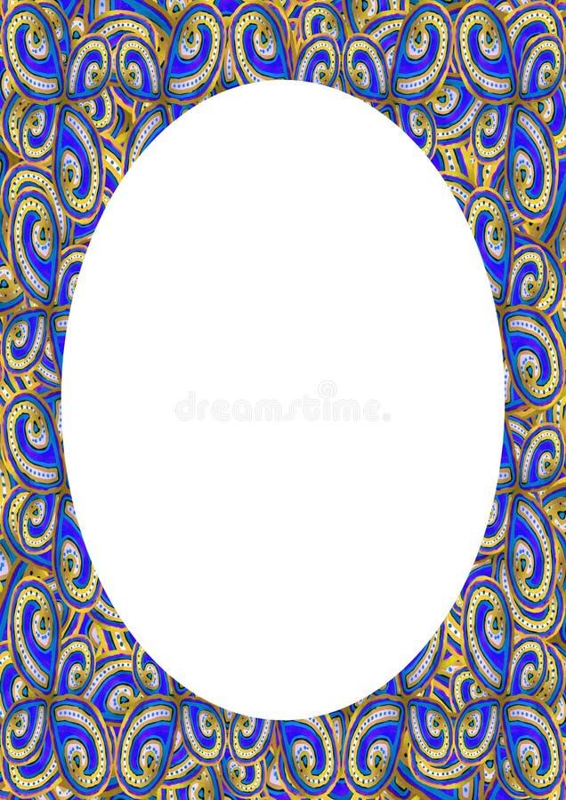 Cirkelrambakgrund med dekorerade gr?nser royaltyfri illustrationer