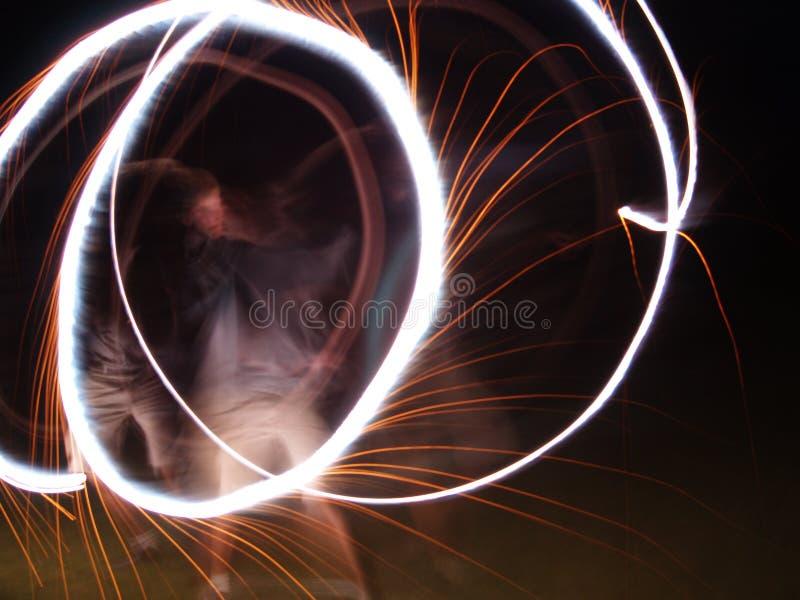Cirkels in de Nacht stock afbeelding
