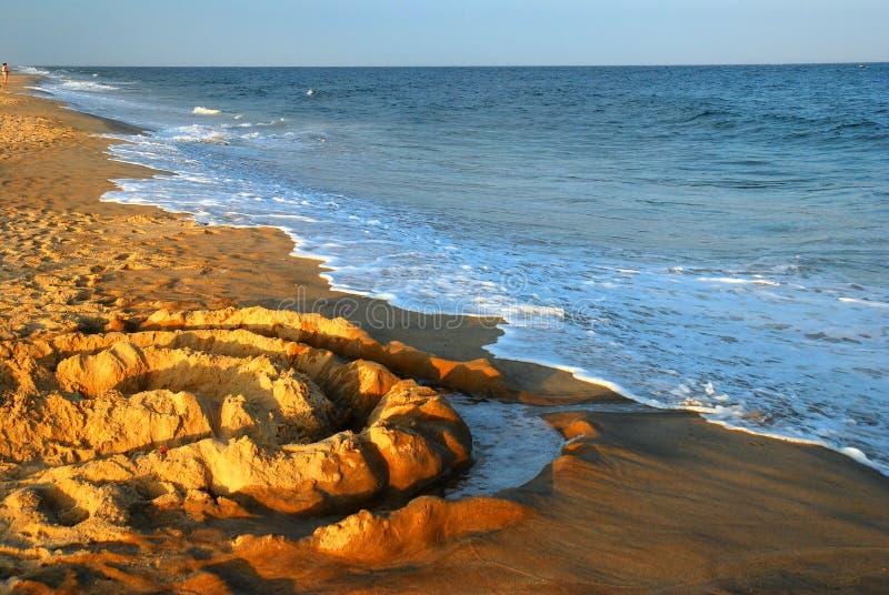 Cirkels in het zand stock foto's