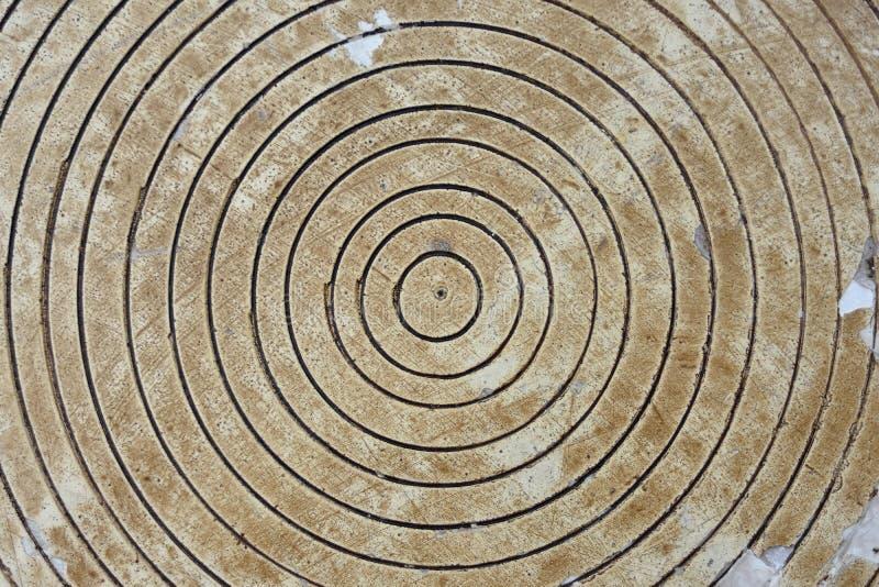 Cirkels in hout stock afbeeldingen
