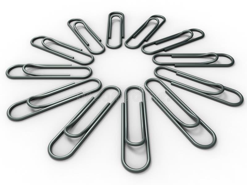 Cirkelserie - paperclippen vector illustratie