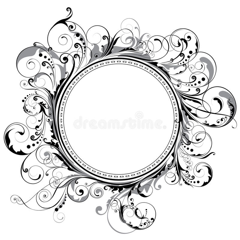 Cirkelvirvelram stock illustrationer