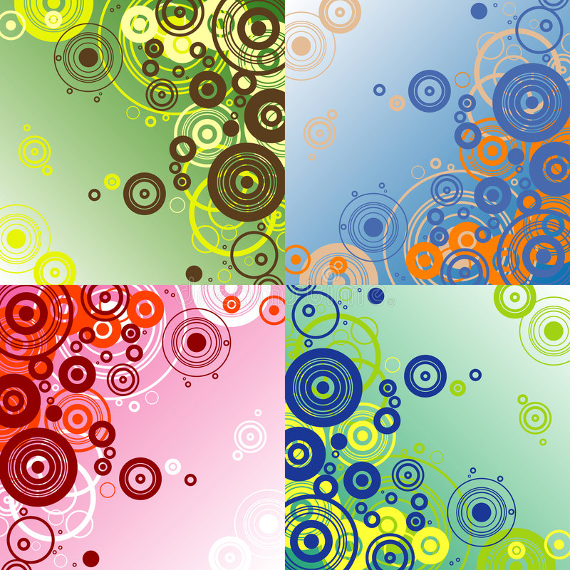 cirkelwallpaper royaltyfri illustrationer
