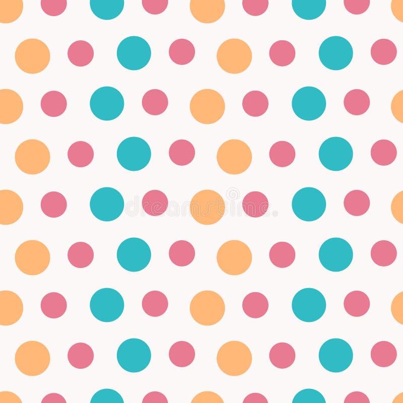 Cirkla det olika formatet för sömlös modellcolorfullstil för garnering, affischen, parti royaltyfri illustrationer